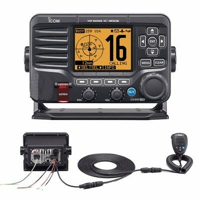 NEW Icom M506 Vhf Fixed Mount W/rear Mic & Nmea 0183/2000® - Black M506 31
