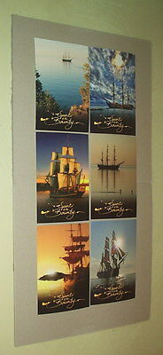 """spirit Of The Bounty"" Pitcairn Islands Postcard Sealed Set(6)"
