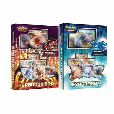 POKEMON XY PRIMAL CLASH * Pokemon Groudon & Kyogre Box set of 2
