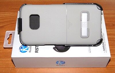 RealST - Samsung Galaxy S7 Edge Case with Kickstand & Holster Clip (Gray) NEW!