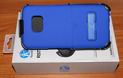 RealST - Samsung Galaxy S7 Edge Case with Kickstand & Holster Clip (Blue) NEW!