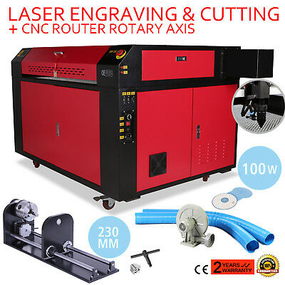 100w Co2 Laser Engraver Cutting Machine Rotary Axis 900x600mm Usb Disk Kit