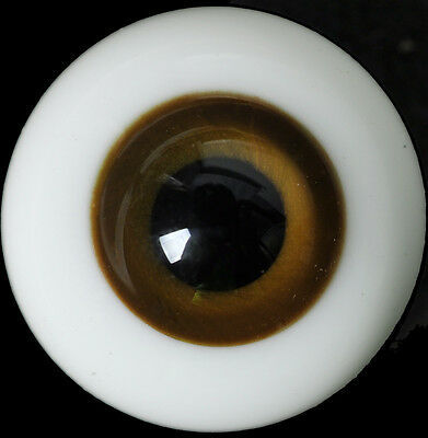 Nice DarkBrown Iris&Black Pupil 12mm Glass Eyes for Ball Joint 1/6 BJD Dollfie