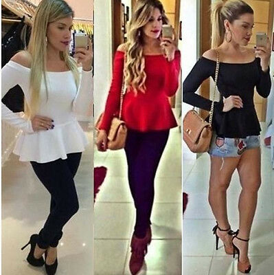 Fashion Women Summer Loose Top Long Sleeve Blouse Ladies Casual Tops T-Shirt