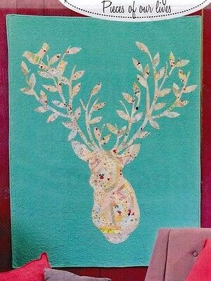 Stag Nation - modern applique wall quilt PATTERN - Sewn into the Fabric
