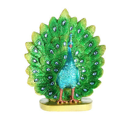 Peacock Gorgeous Feather Dance Statue Figurine Home Decor Housewarming Gifts