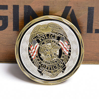 Police Officer ST Michael Patron Saint of Law Coin Collection Challenge Coin