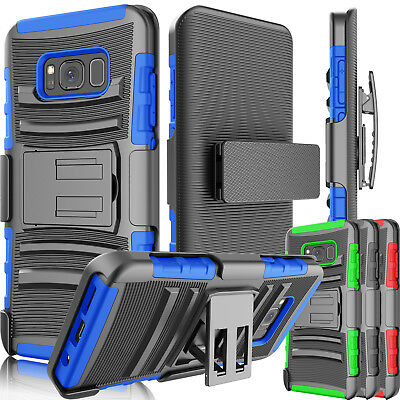 Belt Clip Holster Shockproof Hard Hybrid Case Cover for Samsung Galaxy S8 + / S8