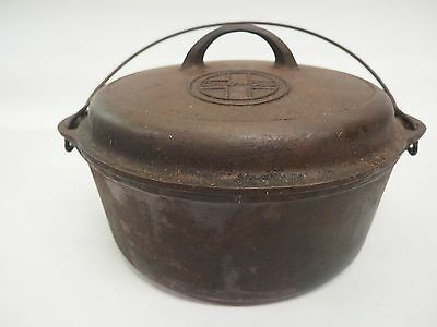 GRISWOLD No. 8 CAST IRON DUTCH OVEN w/ SELF BASTING LID