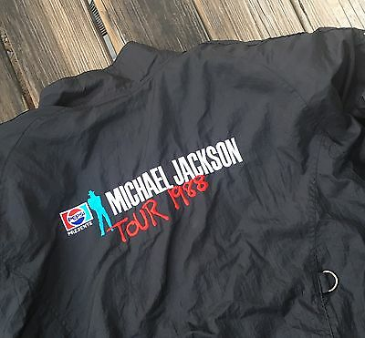 Vintage Michael Jackson 1988 Bad Tour Jacket Pepsi King of Pop Large L