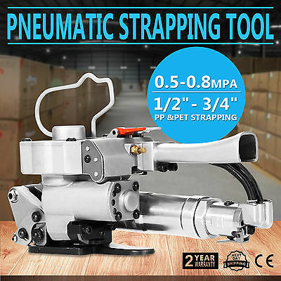 19mm Hand-held Pneumatic Strapping Tools Strap Welding Packaging Polyester