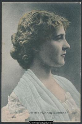 Lettice Fairfax 1876-1948 - movies and stage actress