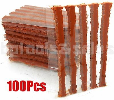100Pcs Tire Repair Plugs Self Vulcanizing Tubeless Seal Tire Repair Plug Patch