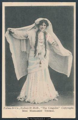 Glamour black & white postcard of Miss Margaret Thomas in The Cingalee