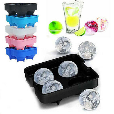 Whiskey Silicon Ice Cube Ball Maker Molds Sphere Mould Brick Tray Round Bar Tray