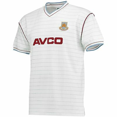 West Ham Utd 1986 Avco Away Official Mens V Neck Top T Shirt Football