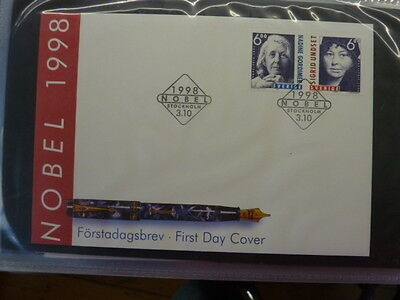 1998 Sweden FDC's collection stamp issue