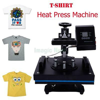 "12"" x 10"" Swing Away Heat Press Transfer Sublimation Machine for T-shirt Garment"
