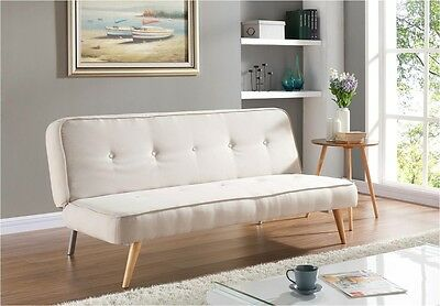 Sofabed Brand New Fabric 3 Seater with Fabric Buttons Padded Sofa Bed Suite