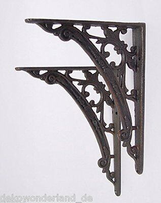Shelf Corner Wall Mount Pair Angle Bracket Support Cast Iron