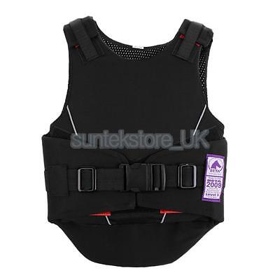 New Kids Safety Horse Riding Vest Equestrian Body Protective Gear Black S