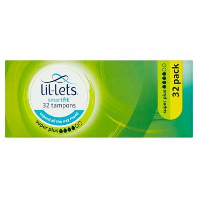lil-lets non-applicator Tampons super Plus Absorbancy–32Tampons (t2V)