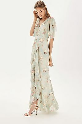 TOPSHOP *Muted Floral Print Maxi Dress* NEW_UK6_8_10_12_14_16