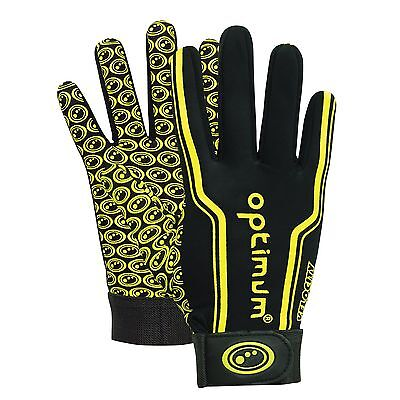 (TG. Junior L) Optimum Guanti sportivi da uomo, Ragazzi, Black / Yellow, (c5W)