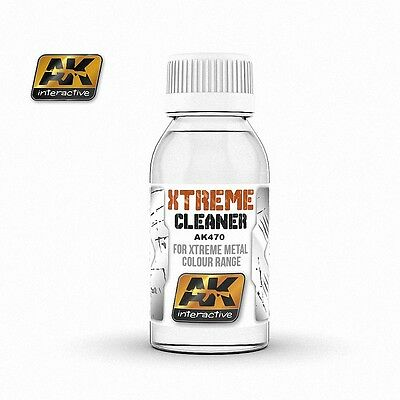 AK Interactive 100ml Xtreme Cleaner for Extreme Metal Colour Range # AK470