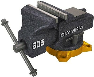 OLYMPIA 5 inch Bench Vise Clamp Swivel Heavy Duty Locking Table Top New Press 4