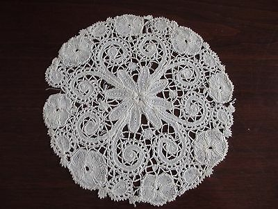 Antique Honiton Bobbin Lace Hand Made Doiley Doilie Dora Dwelley Estate