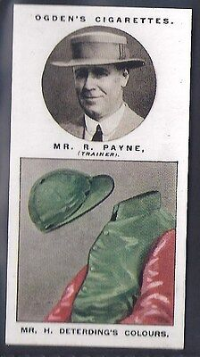 Ogdens-Steeplechase Trainers & Owners Horse Racing Colours-#32- Payne