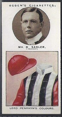 Ogdens-Trainers & Owners Horse Racing Colours (1St Series)-#17- Sadler