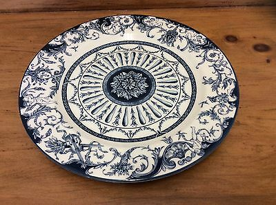 Vintage Blue & White Queen's China The Royal Palaces -Large Round Serving Plate