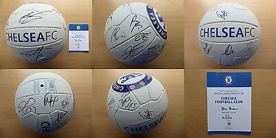 2015-16 Chelsea Official Football Signed by Squad with Official COA (10583)