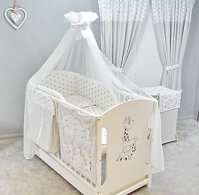 2, 3,4,5,6 or 8 pcs Baby Nursery bedding set/Bumper  fit Cot or Cot Bed/Cotbed