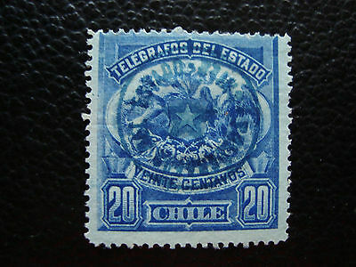 CHILI - timbre yvert et tellier telegraphe n° 3 obl (A23) stamp chile