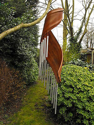 Garden Wind Chimes Coconut Leaf Contemporary Modern Wind Chimes Made In Bali