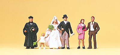 Preiser 10057 Wedding Group Scene Protestant HO Gauge Figures