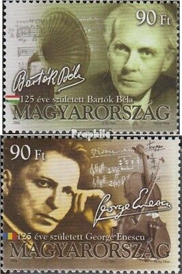 Hungary 5107-5108 unmounted mint / never hinged 2006 Composers
