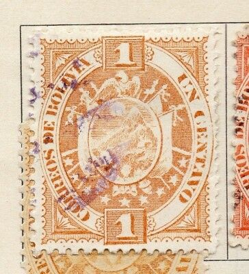 Bolivia 1894 Early Issue Fine Used 1c. 157617