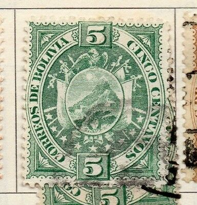 Bolivia 1894 Early Issue Fine Used 5c. 157619