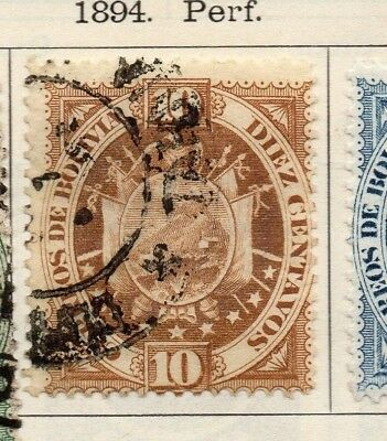 Bolivia 1894 Early Issue Fine Used 10c. 157620