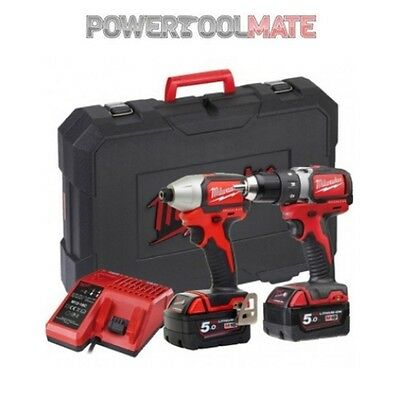Milwaukee M18BLPP2A-502C 18V Brushless Impact & Drill Driver Kit with 2 x 5.0Ah