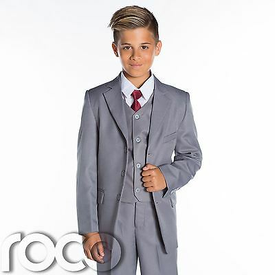 Boys Grey Wedding Suit, Grey Page Boy Suit, Boys Grey Suits, Boys Formal Suits