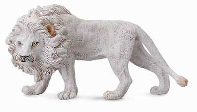 CollectA Wildlife White Lion Toy Figure - Authentic Hand Painted Model