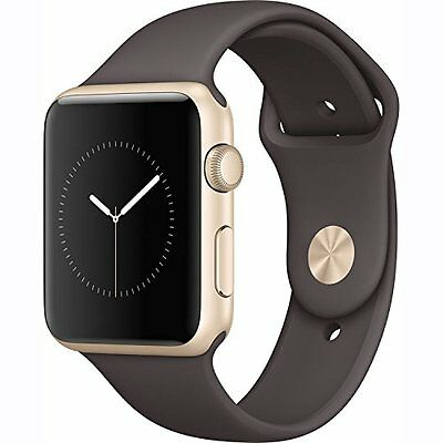 Apple Watch Series 1 42mm Gold Aluminum Case - Cocoa Sport Band