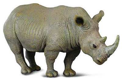 CollectA Wildlife White Rhinoceros Toy Figure - Authentic Hand Painted Model