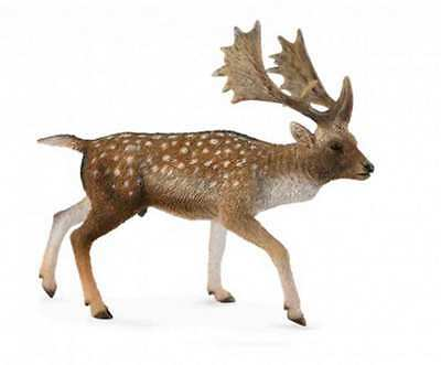 CollectA Woodlands Fallow Deer Male Toy Figure - Authentic Hand Painted Model