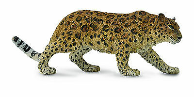 CollectA Wildlife Amur Leopard  Toy Figure - Authentic Hand Painted Model